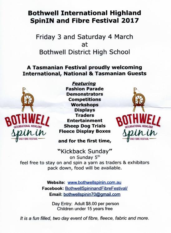 Bothwell International Spin-in and Fibre Festival @ Bothwell District High School