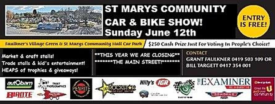 St. Marys Community Car and Bike Show